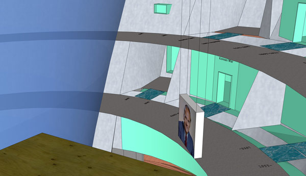 Desde el peace room se controlan las cajas de luz que descienden a los pisos inferiores