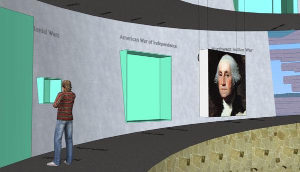 Caja de luz con la imagen de George Washington