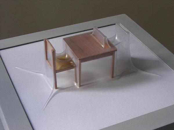 Matrioshka IV - Deseo I (Opaca)  Termoformado, madera  38 x 38 x 15.3 cm - 2012