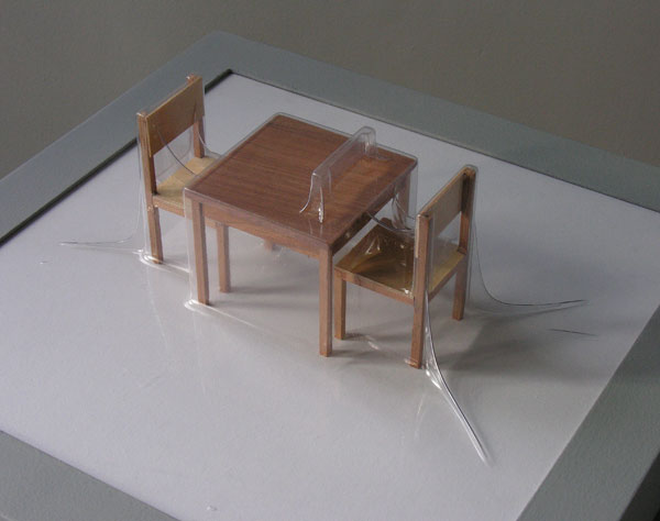 Matrioshka IV - Deseo II (Transparente)  Termoformado, madera  38 x 38 x 15.3 cm  2012