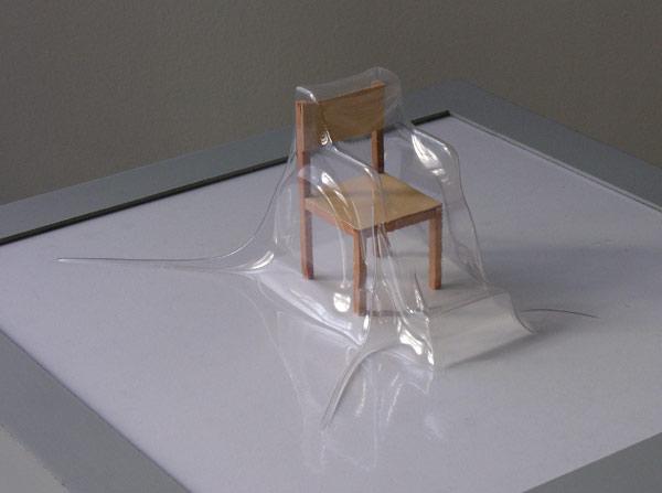 Matrioshka VIII - Silla de ruedas (Transparente)  Termoformado, madera  38 x 38 x 15.9 cm  2012