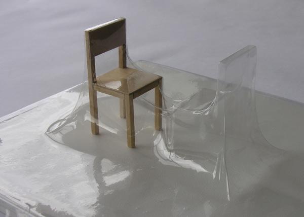 Matrioshka I - Ausencia (Transparente) - Termoformado, madera  38 x 38 x 13.9 cm - 2009